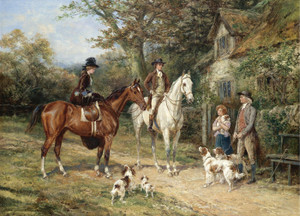 Art Prints of A Convivial Greeting by Heywood Hardy