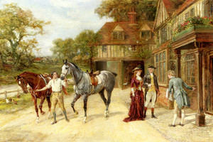 Art Prints of After the Morning Gallop by Heywood Hardy