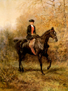 Art Prints of Girl Riding Side Saddle by Heywood Hardy