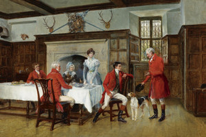 Art Prints of The Huntsman's Story by Heywood Hardy