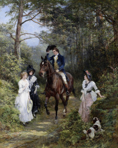 Art Prints of The Meeting in the Forest by Heywood Hardy
