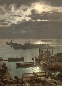 Art Prints of Harbor by Moonlight II, Algiers, Algeria (387064)