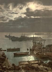 Art Prints of Harbor by Moonlight II, Algiers, Algeria (387064)
