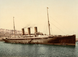 Art Prints of Steamship Normannia, Algiers, Algeria (387090)