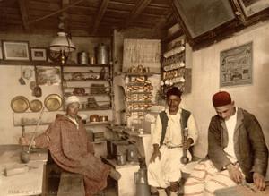 Art Prints of Moorish Coffee House, Algiers, Algeria (387095)