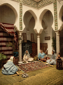 Art Prints of Moorish Women Making Arab Carpets, Algiers, Algeria (387104)