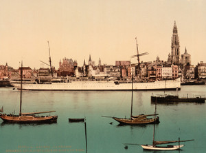 Art Prints of North German Lloyd Steamer, La Prusse, Antwerp, Belgium (387139)