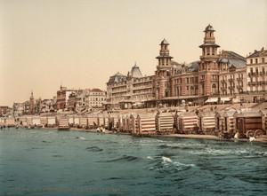 Art Prints of The Seashore and Kursaal or Cursaal, Blankenberghe, Belgium (387151)