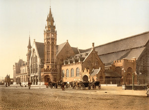 Art Prints of The Station, Bruges, Belgium (387163)