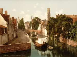 Art Prints of Quai Vert, Bruges, Belgium (387161)