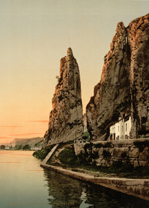 Art Prints of The Bayard Rock, Dinant, Belgium (387188)