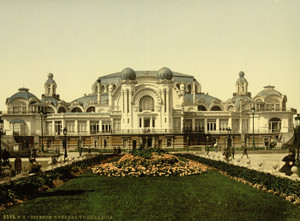 Art Prints of The Kursaal or Cursaal Seen from Garden, Ostend, Belgium (387223)