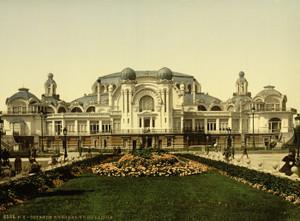 Art Prints of The Kursaal or Cursaal Seen from Garden, Ostend, Belgium (387223)