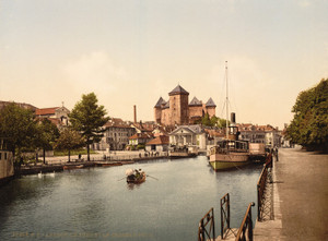Art Prints of Harbor and Chateau, Fort Annecy, France (386969)