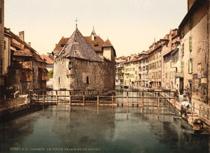 Art Prints of Old Palace and Canal, Annecy, France (386968)
