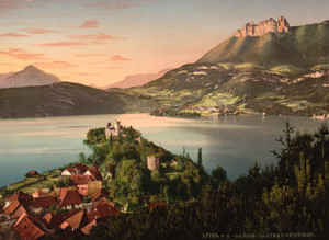 Art Prints of Chateau de Duingt, Annecy, France by Historic Photography