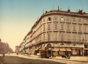 Art Prints of Rue Chapeau Rouge from the Place Richelieu, Bordeaux, France (386997)