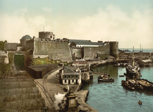 Art Prints of The Castle from Swing Bridge, Brest, France (387008)