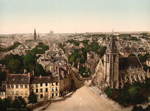 Art Prints of General View, Caen, France (387012)