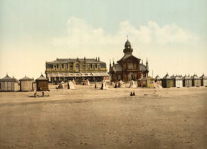 Art Prints of Beach and Casino, Calais, France (387022)