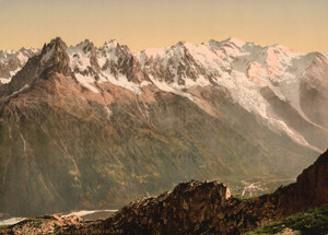 Art Prints of Valley of Chamonix, Chamonix Valley, France (387028)