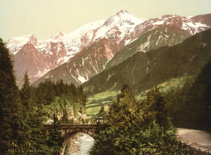 Art Prints of St. Marie Bridge, Chamonix Valley, France (387036)