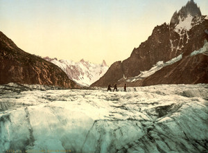 Art Prints of Mer de Glace Mont Blanc, Chamonix Valley, France (387039)