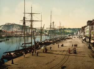 Art Prints of Quay Alex III and Commercial Docks, Cherbourg, France (387049)