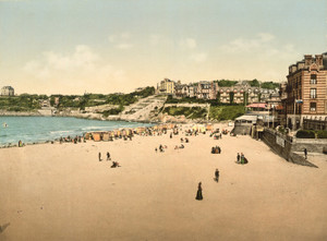 Art Prints of Beach and Casino, Dinard, France (387267)