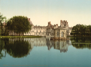 Art Prints of From the Park, Fontainebleau Palace, France (387283)