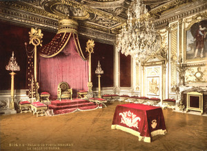 Art Prints of The Throne Room, Fontainebleau Palace, France (387285)