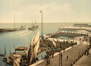 Art Prints of Entrance to Harbor, Havre, France (387307)