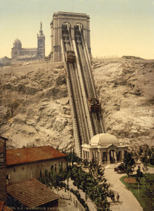 Art Prints of Cable Railway, Marseilles, France (387353)