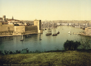 Art Prints of Part of the Old Harbor, Marseilles, France (387366)