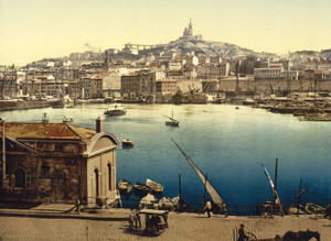 Art Prints of The Harbor, Marseilles, France (387365)