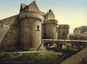 Art Prints of Entrance to Castle, Nantes, France (387390)