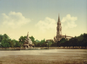Art Prints of The Esplanade, Nimes, France (387399)