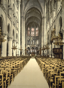 Art Prints of Notre Dame Interior, Paris, France (387435)