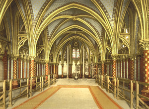 Art Prints of The Holy Chapel Interior of Lower Chapel, Paris, France (387442)