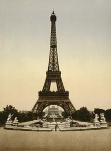 Art Prints of Eiffel Tower, Full View, Paris, France (387487)