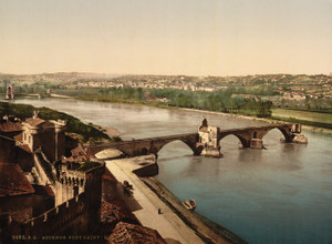 Art Prints of General View and Benezech Bridge, Avignon, Provence, France (387489)