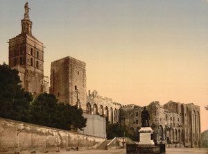 Art Prints of Pope's Castle, Avignon, Provence, France (387491)
