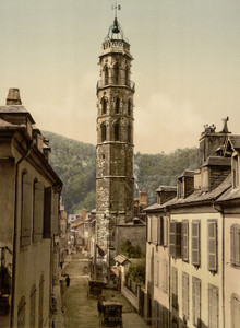Art Prints of Jacobin Tower Bagneres de Bigorra, Pyrenees, France (387509)