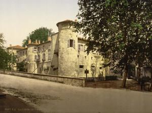 Art Prints of Old Castle, Bayonne, Pyrenees, France (387513)