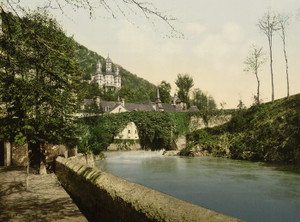 Art Prints of General View and the Bridge, Betharram, Pyrenees, France (387515)