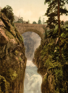 Art Prints of Pont d'Epagne or Pont d'Espagne, Cauterets, Pyrenees, France (387531)