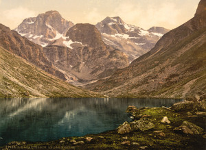 Art Prints of Lake d'Estom, Cauterets, Pyrenees, France (387533)