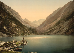 Art Prints of The Lake Gaube, Pyrenees, France (387540)