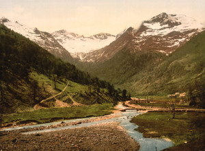 Art Prints of Valley of Lys, Luchon, Pyrenees, France (387560)