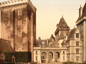 Art Prints of The Castle from East Front, Pau, Pyrenees, France (387568)